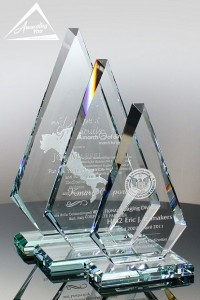 Award glass plaque