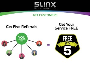Yours free with 5 referrals
